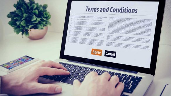 image showing Website terms and conditions